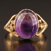 Vintage 9K Amethyst Ring