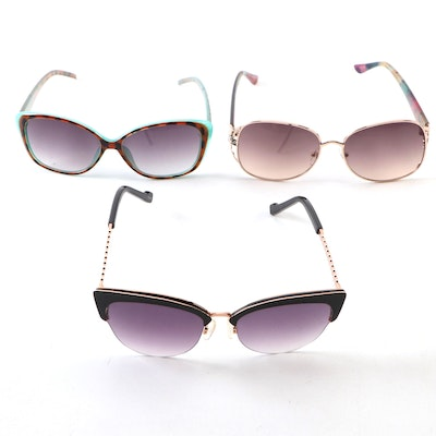 Jessica Simpson and Glo Cat Eye, Metal and Modified Style Sunglasses