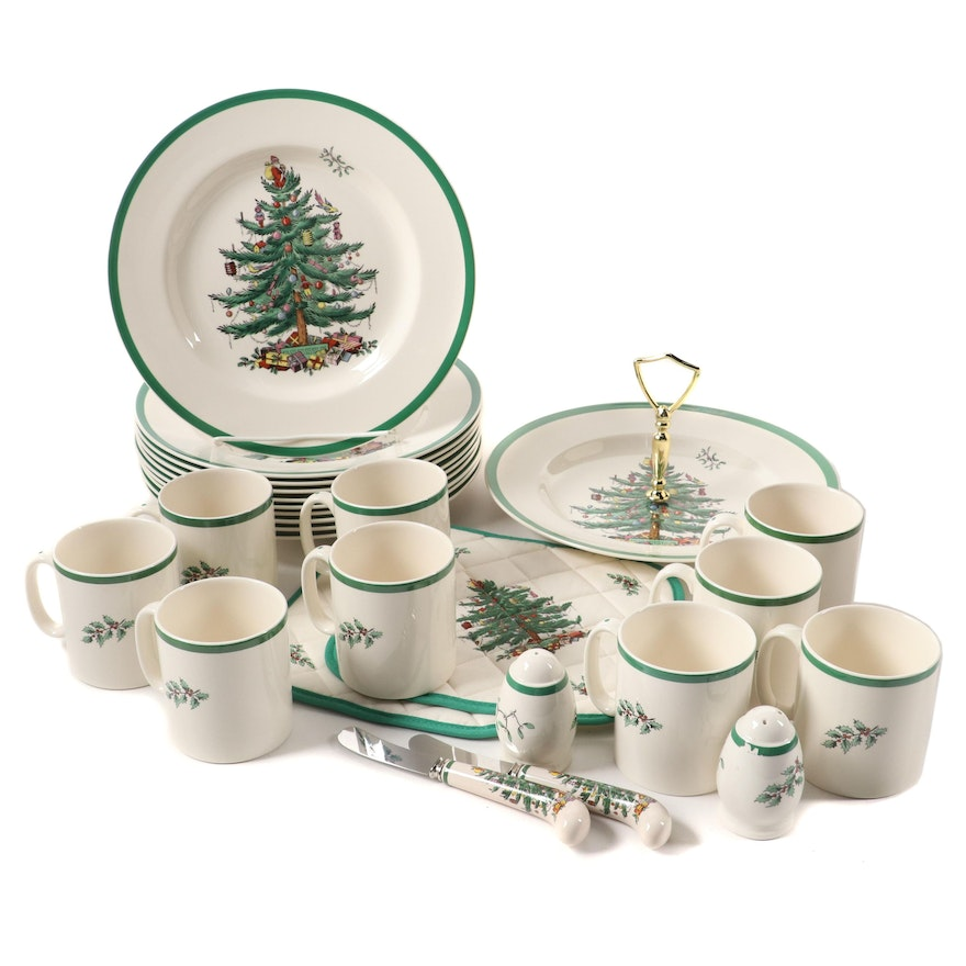 "Spode ""Christmas Tree"" Ceramic Dinnerware, Serveware and Table Accessories"