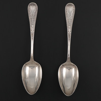 "Gorham ""Hindostanee"" Sterling Silver Serving Spoons, Late 19th Centruy"