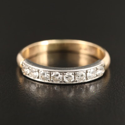 Platinum Set Diamond Band with 14K Shank