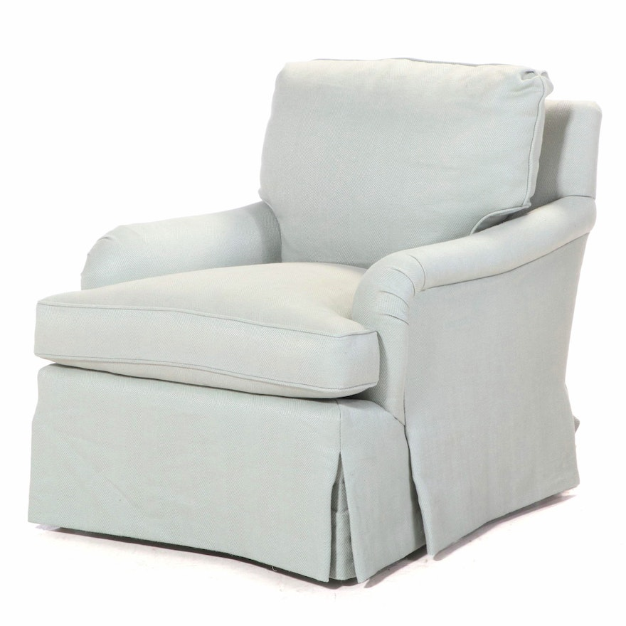 Upholstered Armchair with Tailored Skirt, 21st Century