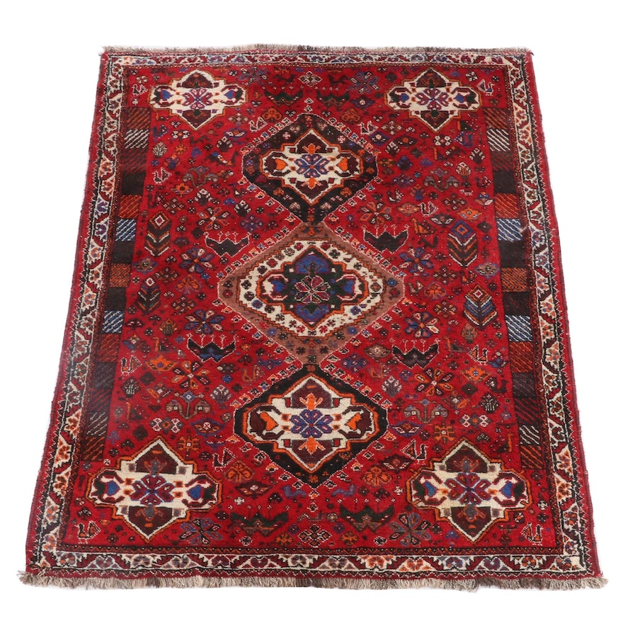 5'10 x 8'6 Hand-Knotted Persian Shahsavan Wool Rug