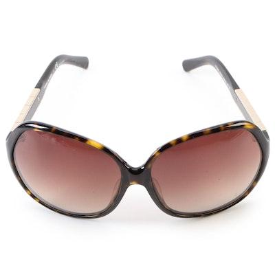 Tory Burch Studded Faux Tortoise Gradient Lens Sunglasses