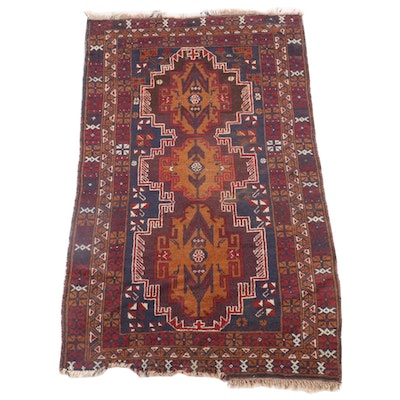 3'6 x 6'6 Hand-Knotted Persian Yalameh Wool Rug