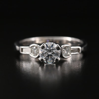 14K Diamond and Cubic Zirconia Ring
