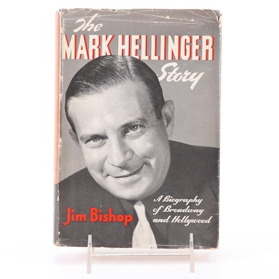 """The Mark Hellinger Story"" Signed by His Wife Gladys Glad and Author Jim Bishop"