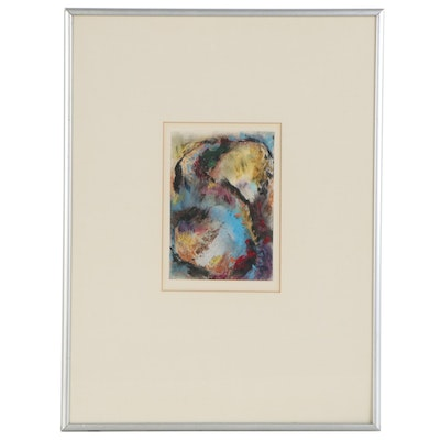 Lynne Meyers Gordon Abstract Pastel Drawing, Late 20th Century