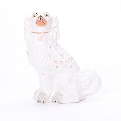 Staffordshire Spaniel Figurine, Mid-20th Century