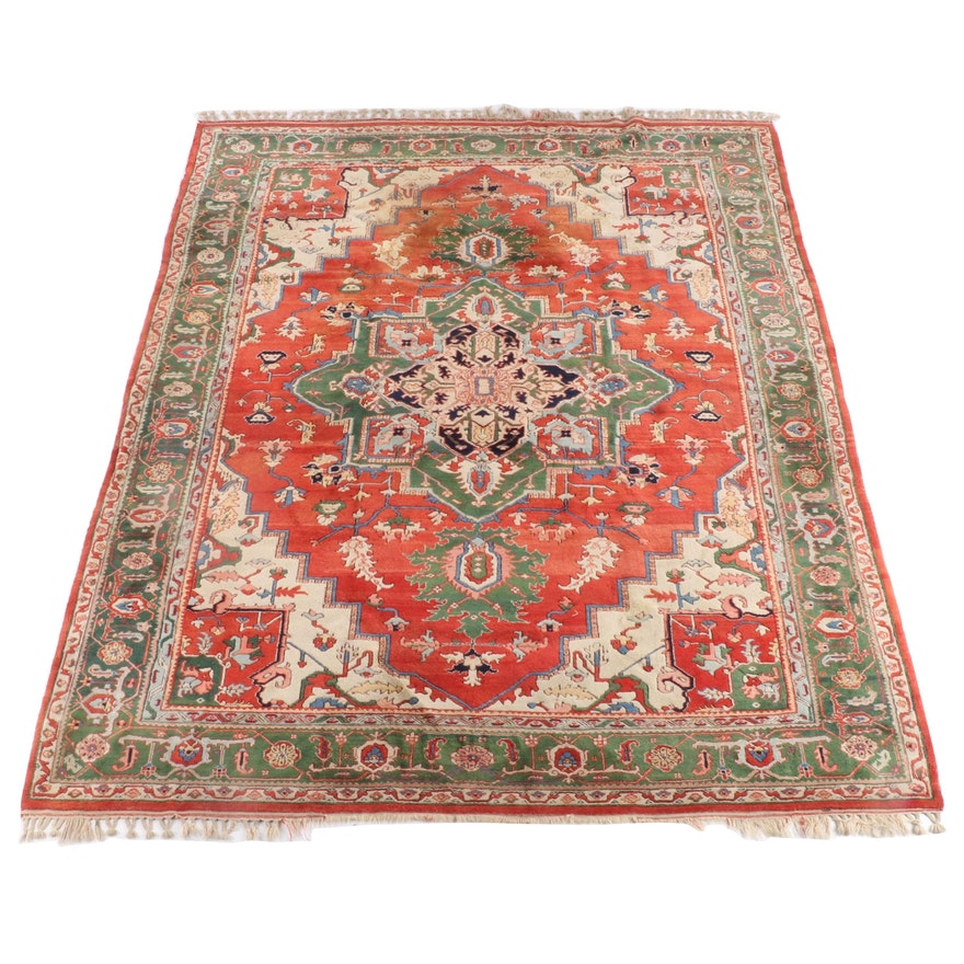9'2 x 12'5 Hand-Knotted Persian Ahar Wool Rug