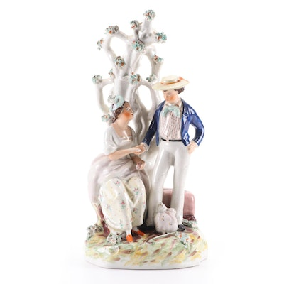 Staffordshire Pearlware Sailor's Farewell Figurine, Early to Mid 19th Century