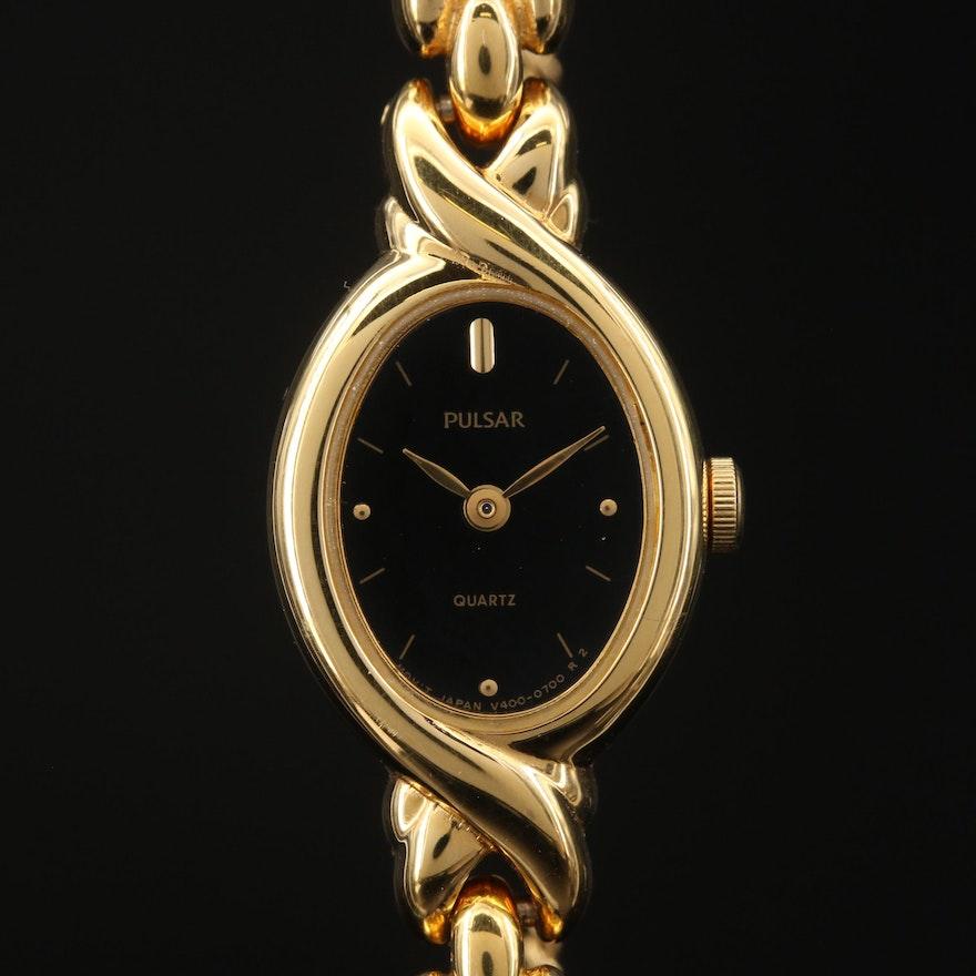 Pulsar Gold Tone Quartz Wristwatch