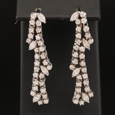 14K 2.47 CTW Diamond Drop Earrings