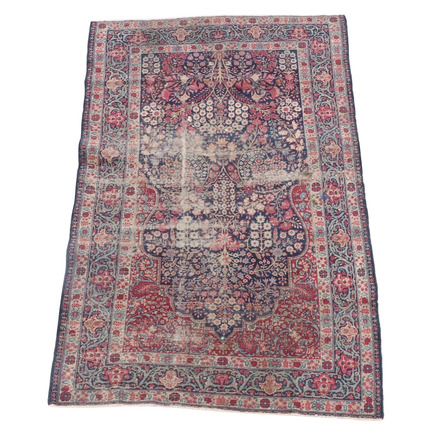 4'6 x 7'5 Hand-Knotted Persian Nahavand Wool Rug