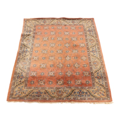 "7'10 x 11'2 Hand-Tufted Indian Homestead ""Cinnamon"" Wool Rug"