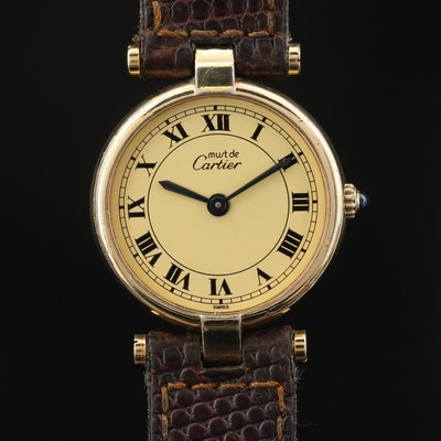 Cartier Vendome Vermeil Quartz Wristwatch