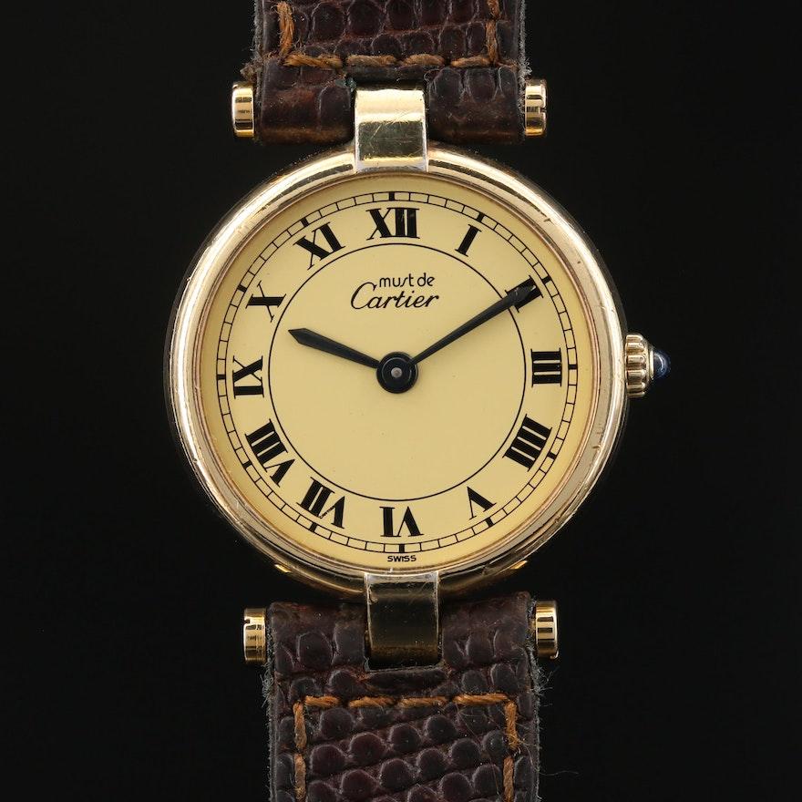 Cartier Vendome Vermeil Quartz Wristwatch