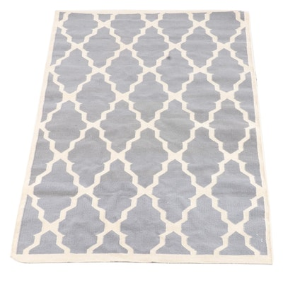 5'1 x 7'11 Handwoven Geometric Trellis Wool Rug