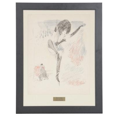 """Marcel Vertès Color Lithograph """"Cirque II,"""" 1947"""