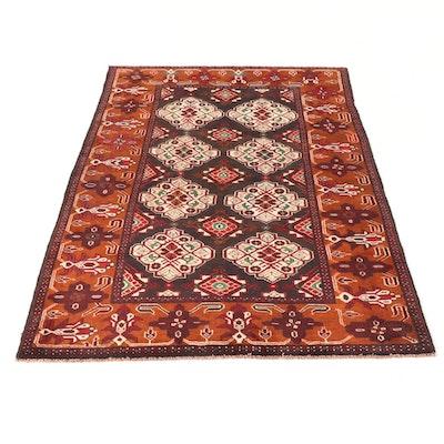 4' x 6'1 Persian Balouch Floral Rug, circa 2000