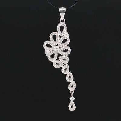 Sterling Silver Cubic Zirconia Dangle Pendant