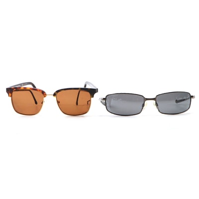 Brooks Brothers Browline Sunglasses and Revo Efflux Sport Sunglasses