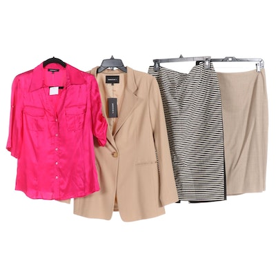 Lafayette 148 New York Pencil Skirts, Blazer and Satin Top