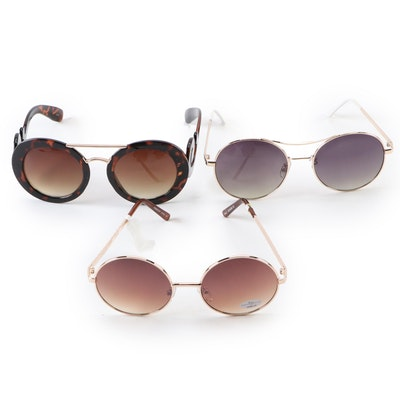 Metal and Avant Garde Round Sunglasses
