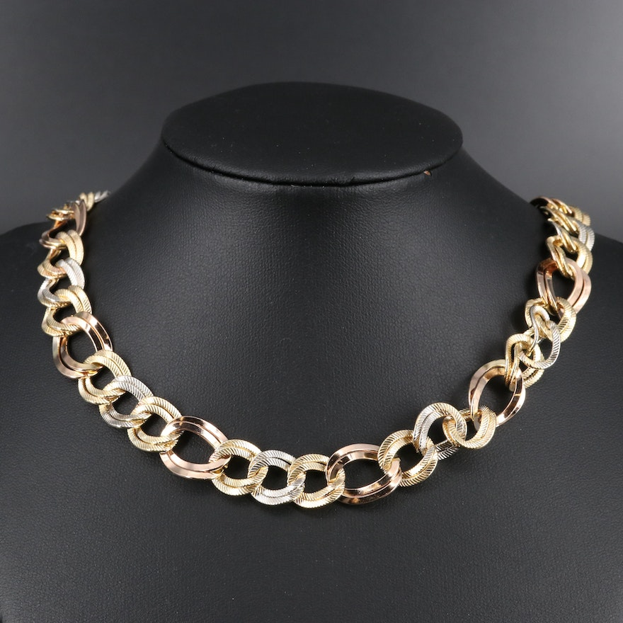 Double Curb Link Necklace