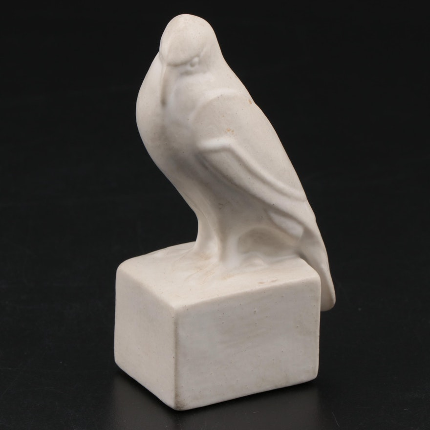 "Limited Edition Rookwood Pottery ""Rook"" Glazed Ceramic Paperweight, 1998"