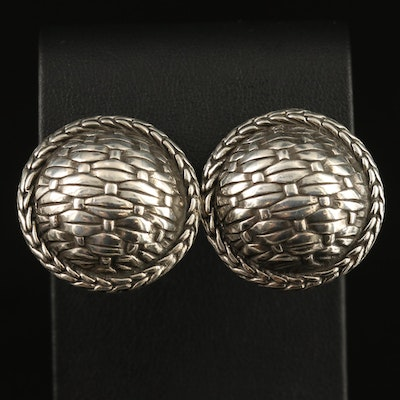 Vintage John Hardy Sterling Dome Button Earrings