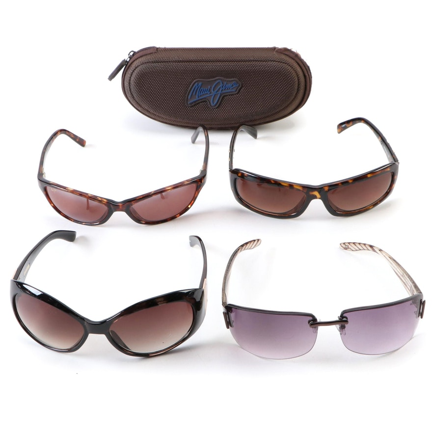 Foster Grant, Maui Jim and Tommy Hilfiger Rimless and Faux Tortoise Sunglasses