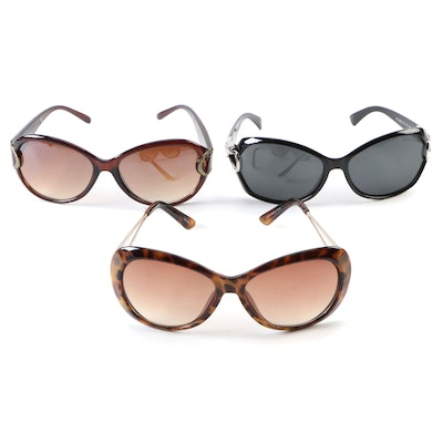 Sag Harbor and Other Faux Tortoiseshell and Black Sunglasses