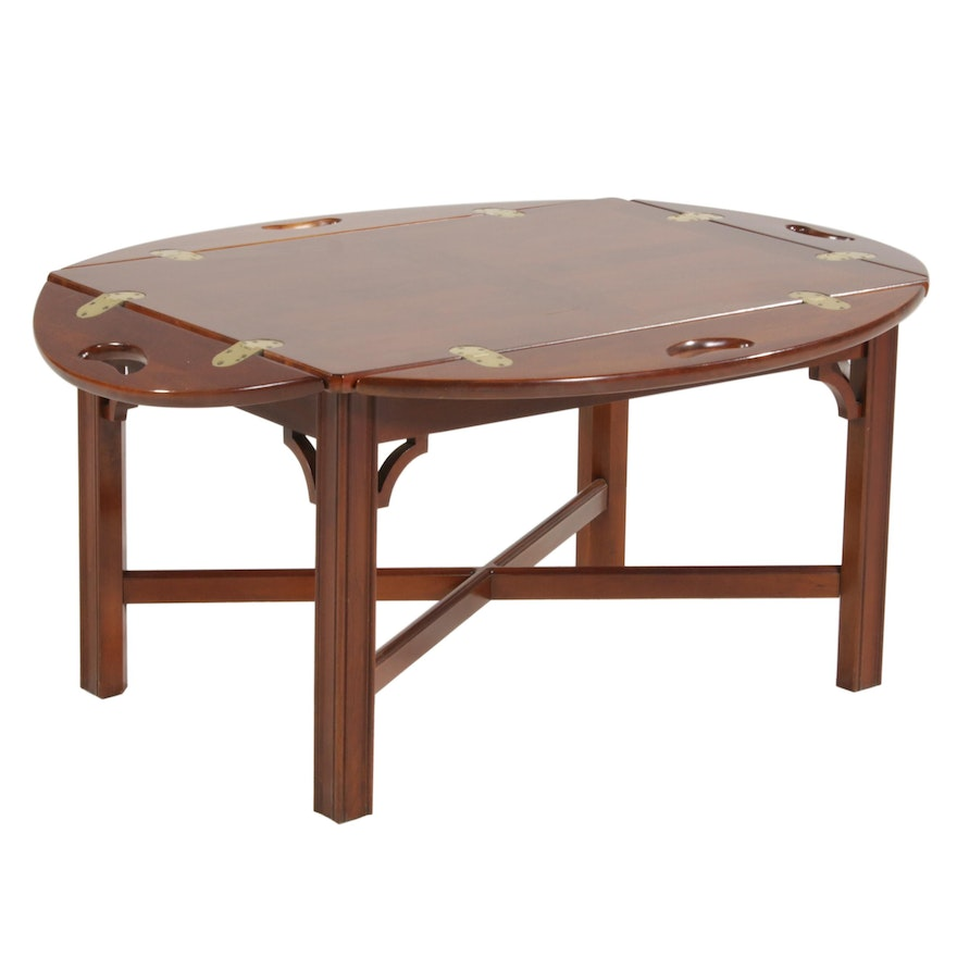 Chippendale Style Cherrywood Butler's Tray Table