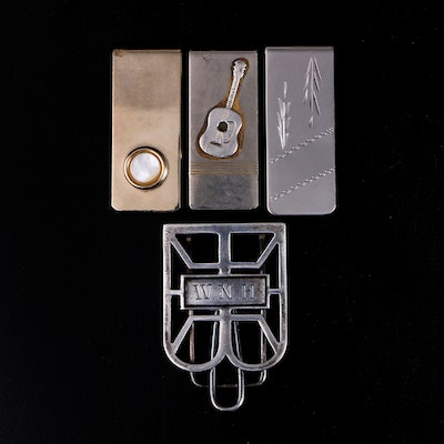 Anson and Other Sterling Silver and Base Metal Money Clips