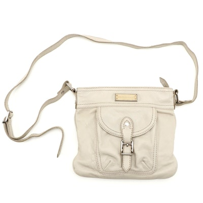 Burberry Leather Crossbody Bag with Buckled Pocket