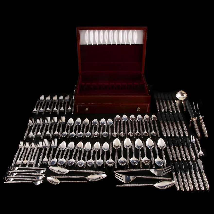 "International Sterling Silver ""Valencia"" Flatware Set with Chest, 1965–1996"