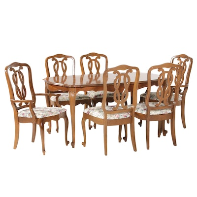 Lenoir Chair Co. French Provincial Style Seven-Piece Dining Set