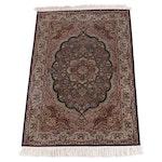 3'6 x 6'4 Hand-Knotted Persian Mashhad Wool Rug