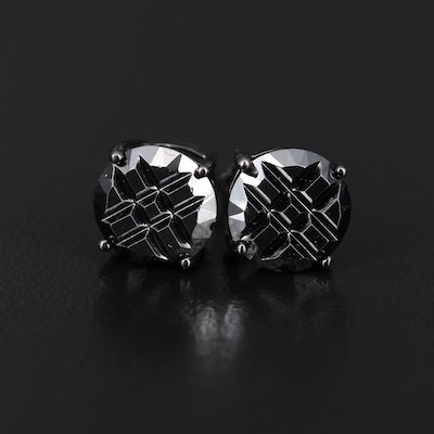 Sterling Cubic Zirconia Stud Earrings