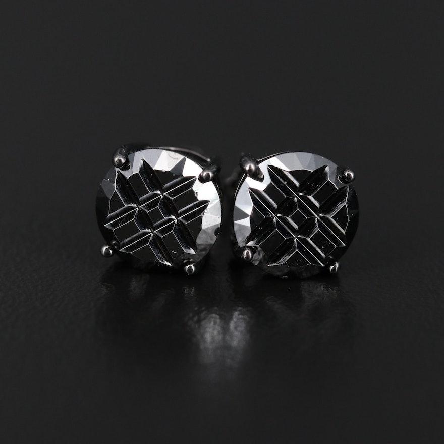 Sterling Cubic Zirconia Stud Earrings
