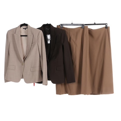 Theory Blazers and Pencil Skirts