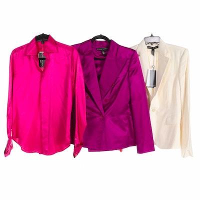 Ralph Lauren Black Label Silk Blouse with Blazers