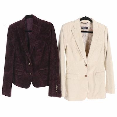 Dolce & Gabbana Velvet Two-Button Blazers