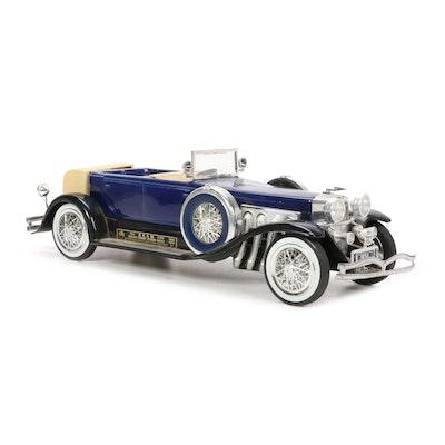 "Jim Beam 1934 Duesenberg Model ""J"" Car Decanter, 1970s"