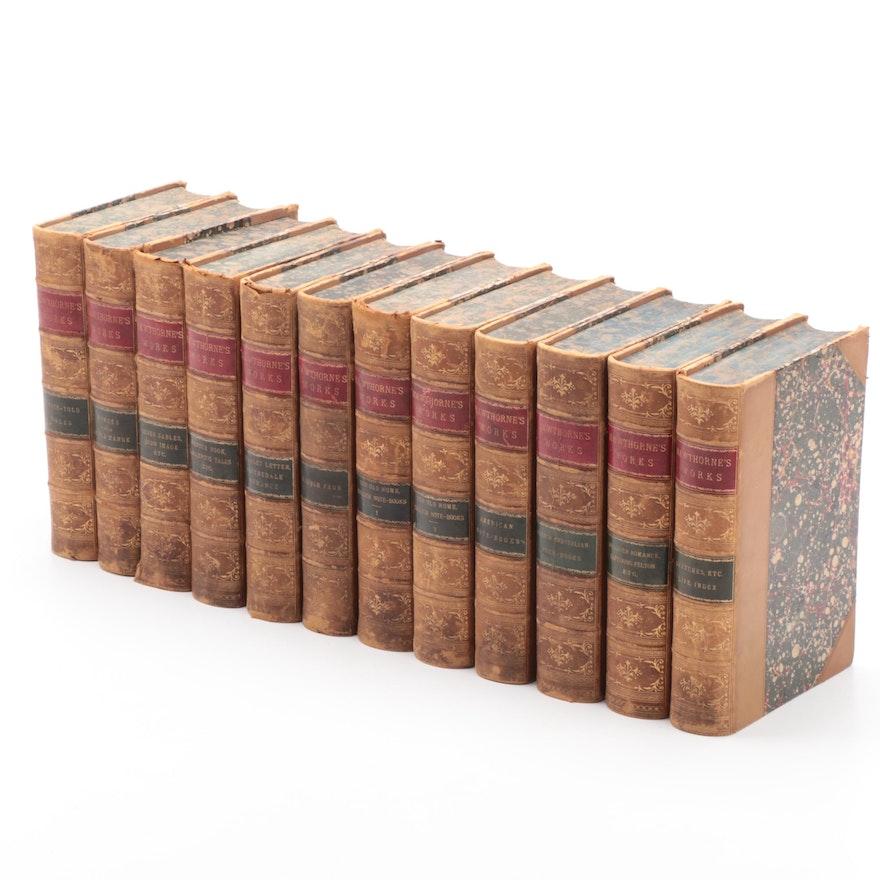 """The Complete Works of Nathaniel Hawthorne"" Twelve-Volume Set, 1883"