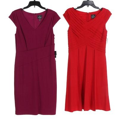 Adrianna Papell Knit Cap Sleeve Dresses