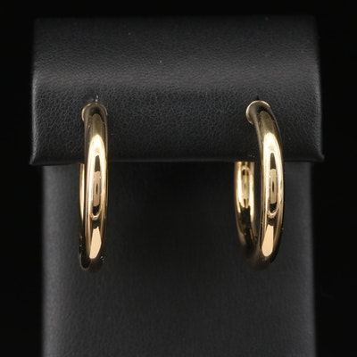 14K Cylindrical Hoop Earrings
