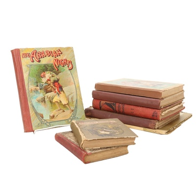 "Eight Children's Books Including ""The Arabian Nights"", Late 19th C."
