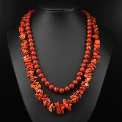 Coral Bead Necklaces